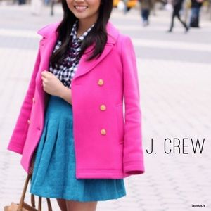Pink Peacoat by J. Crew